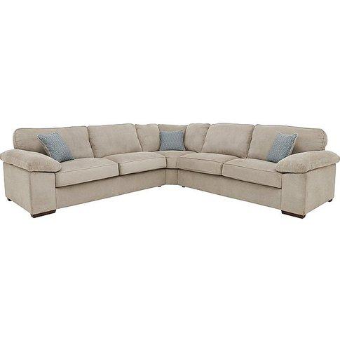 Home Large Fabric Corner Sofa - Beige - By Furniture...
