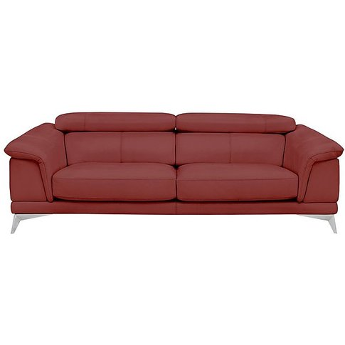 Corium Echo Large 3 Seater Classic Back Leather Sofa
