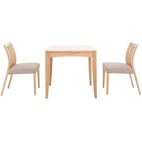 Duplex Small Extending Dining Table With 2 Low Slatt...