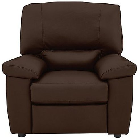 Lazio Leather Armchair - Brown