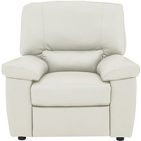 Lazio Leather Power Recliner Armchair - White
