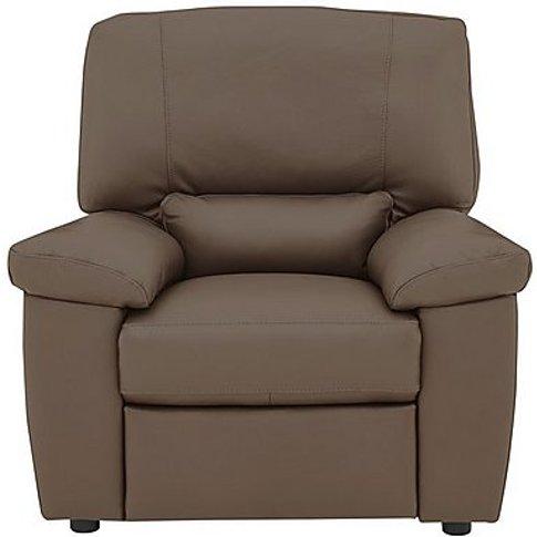 Lazio Leather Armchair - Brown
