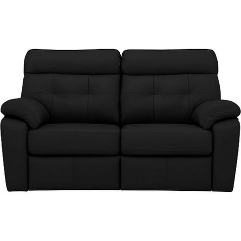G Plan - Miller 2 Seater Leather Sofa - Black