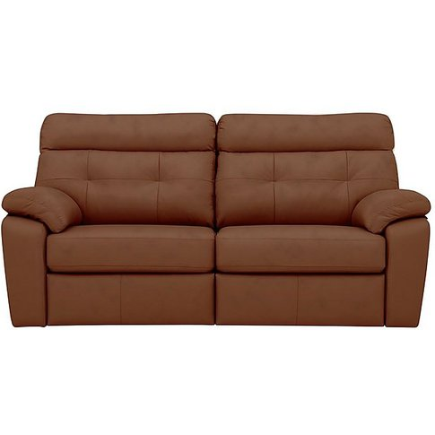 G Plan - Miller 3 Seater Leather Manual Recliner Sof...