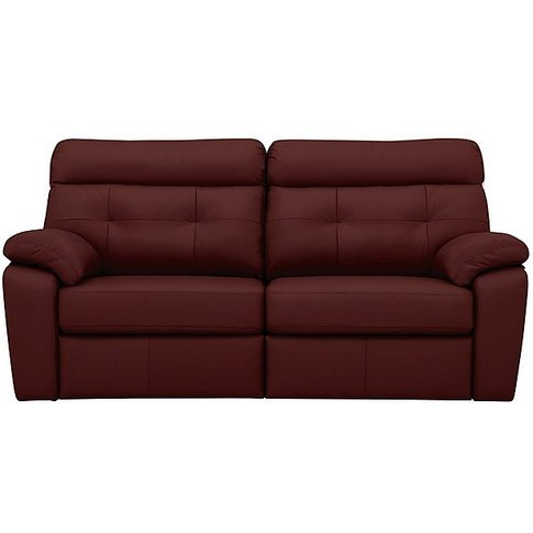 Miller 3 Seater Leather Power Recliner Sofa