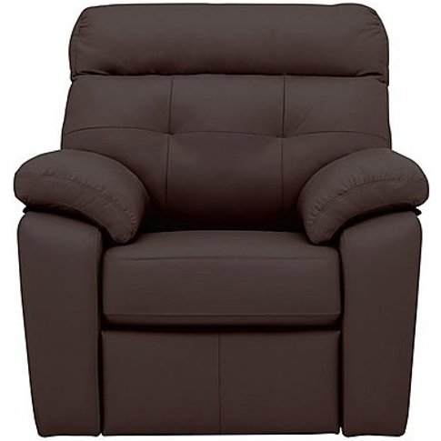 G Plan - Miller Leather Manual Recliner Armchair - B...