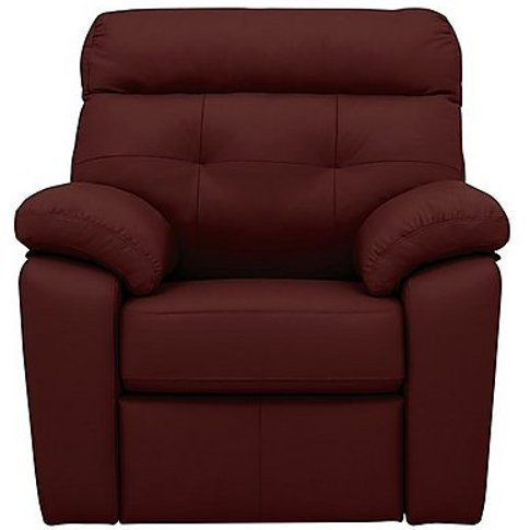 G Plan - Miller Leather Manual Recliner Armchair - Red