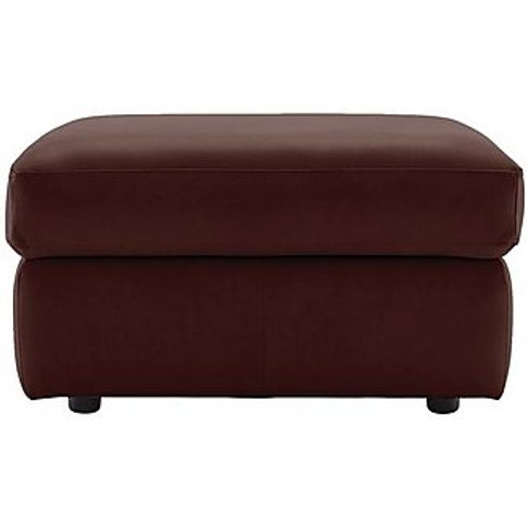 G Plan - Miller Leather Storage Footstool - Red