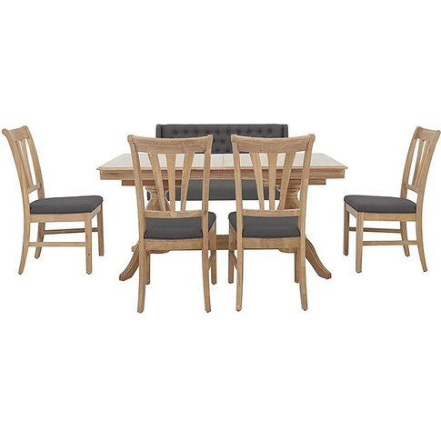 Maison Extending Dining Table, 4 Slatted Chairs And ...