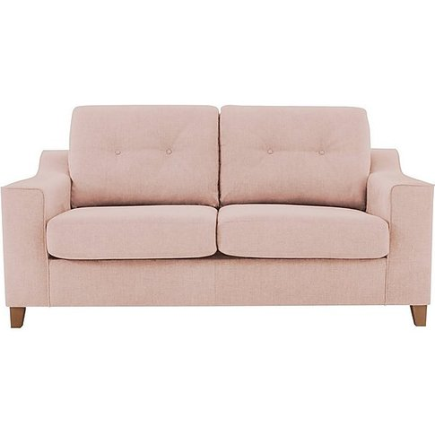 Sigrid 3 Seater Fabric Sofa - Pink - By Furniture Vi...