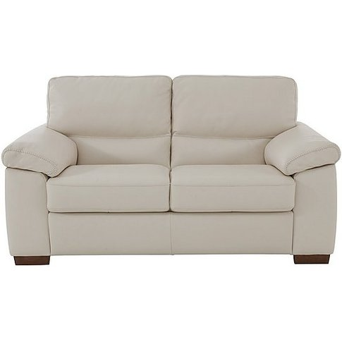 Rome 2 Seater Leather Sofa - Cream - By Furniture Vi...