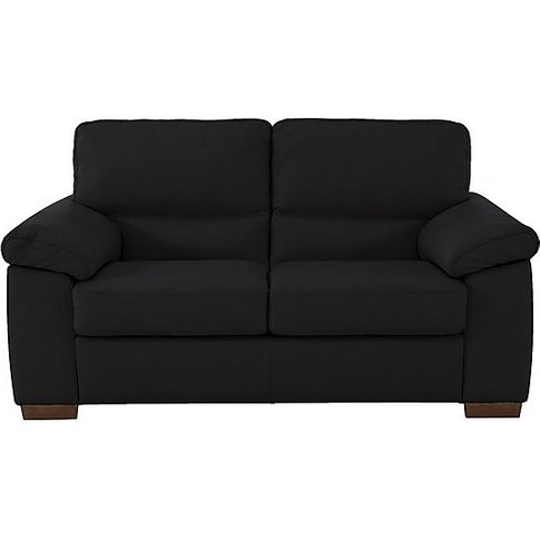 Rome 2 Seater Leather Sofa - Black - By Furniture Vi...
