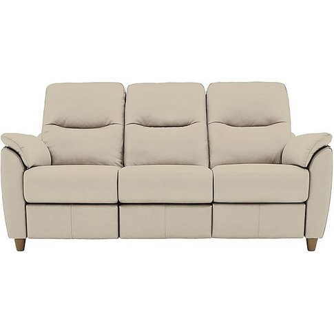 G Plan - Spencer 3 Seater Leather Power Recliner Sof...