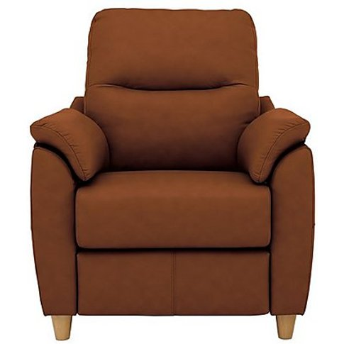 G Plan - Spencer Leather Recliner Armchair - Brown