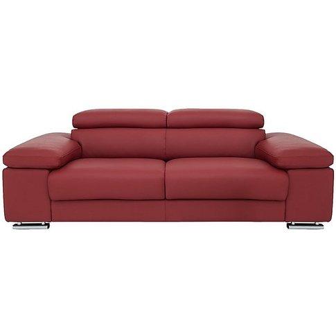 Nicoletti - Sanova 3 Seater Leather Sofa - Red