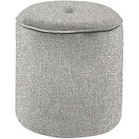 Connection Small Fabric Drum Footstool