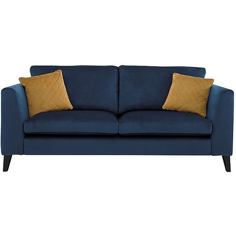 Jewels 3 Seater Fabric Sofa - Blue - By Furniture Vi...