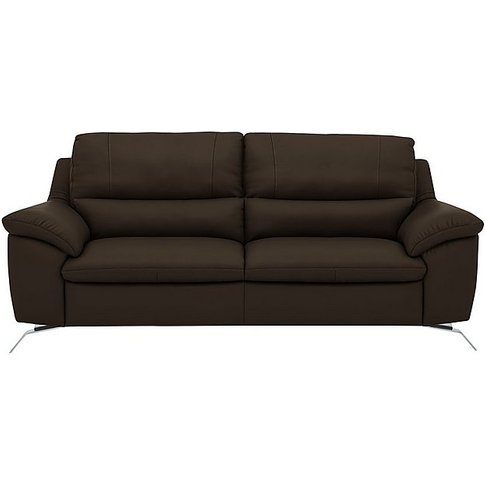 Apulia 3 Seater Leather Sofa - Brown - By Furniture ...
