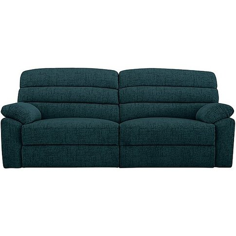 Comfort Story - Page 3 Seater Fabric Sofa - Teal