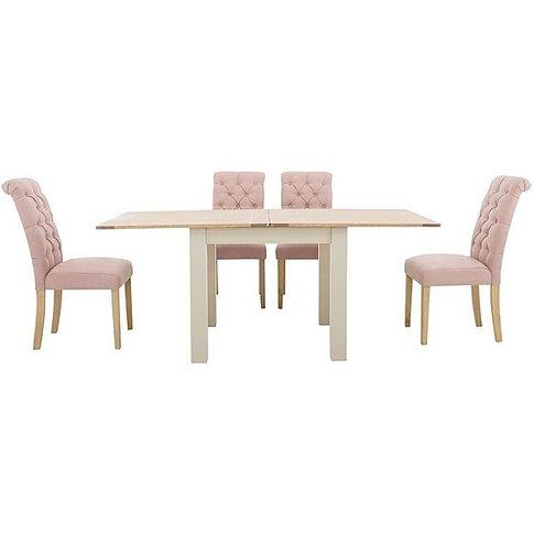 Furnitureland - Angeles Flip Top Extending Dining Ta...