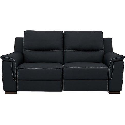 Nicoletti - Alto 2 Seater Leather Recliner Sofa - Blue