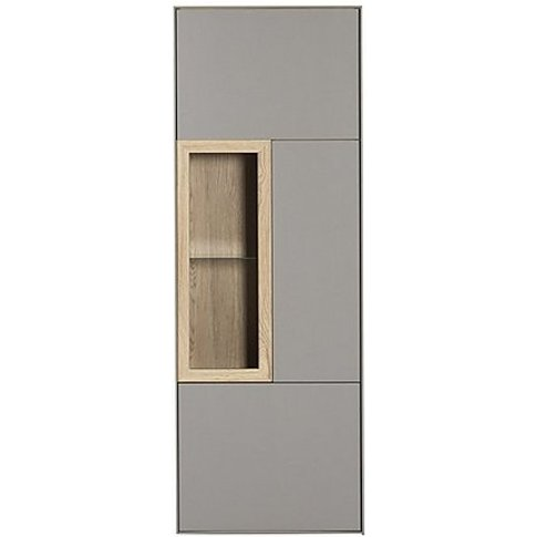 Enigma Display Cabinet - Right Hand Facing - Cream -...
