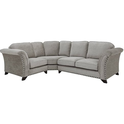 Holly Small Classic Back Fabric Corner Sofa With Studs