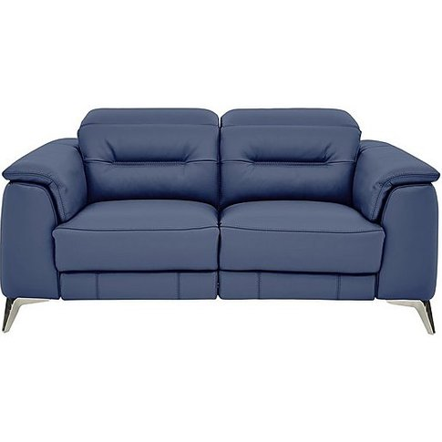 Sanza 2 Seater Power Sofa With Manual Headrests Ex-S...