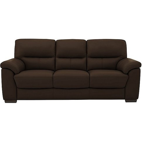 Zinc 3 Seater Leather Sofa - Brown- World Of Leather