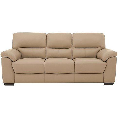 Zinc 3 Seater Leather Sofa- World Of Leather