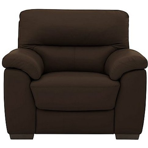 Zinc Leather Armchair - Brown- World Of Leather