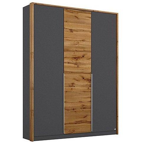 Rauch - Indiana 3 Door Hinged Wardrobe - Grey