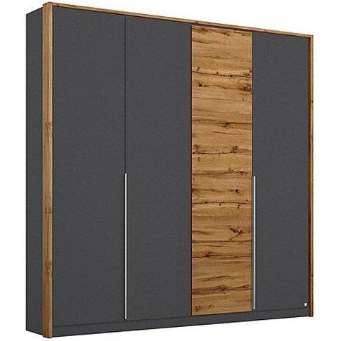 Rauch - Indiana 4 Door Hinged Wardrobe - Grey