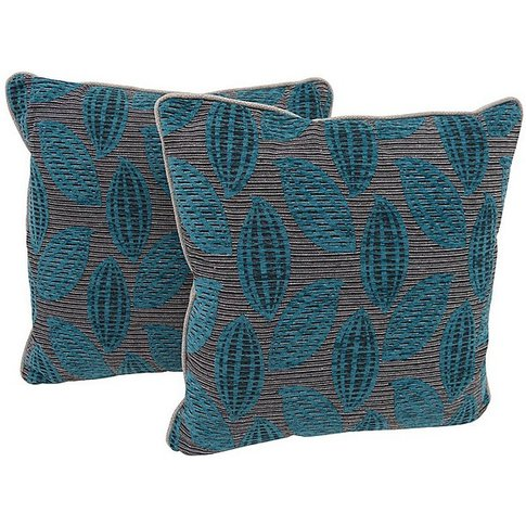 Comfi Fabric Pair Of Scatter Cushion - Teal