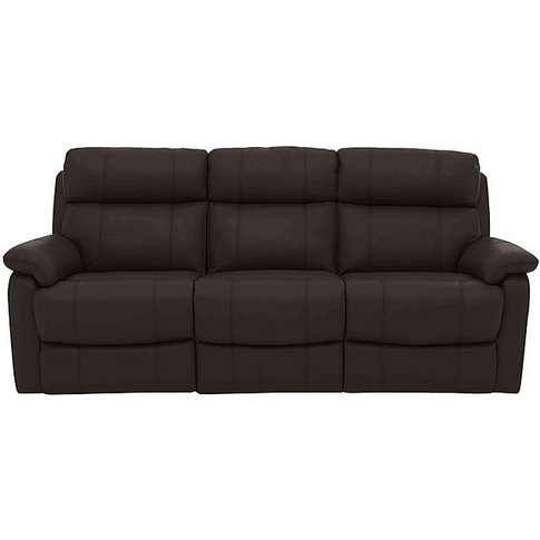 Relax Station Komodo 3 Seater Leather Power Sofa - B...