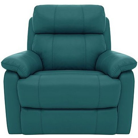 Relax Station Komodo Leather Power Armchair - Teal- ...