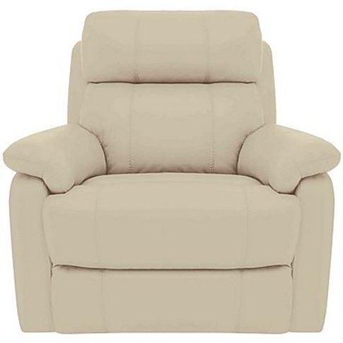 Relax Station Komodo Leather Power Armchair - Cream-...