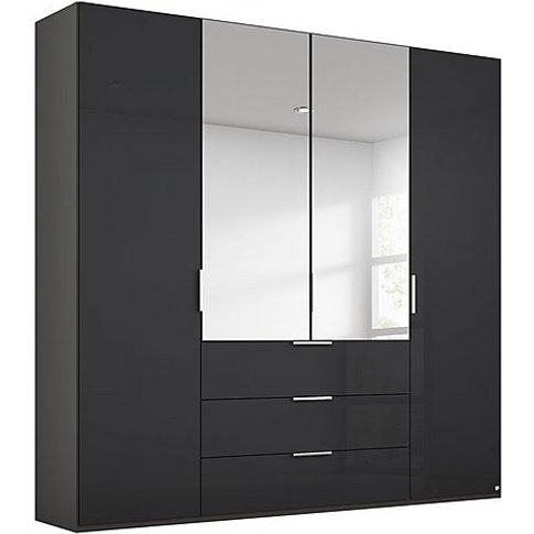 Rauch - Formes Glass 4 Door Combo Hinged Wardrobe Wi...