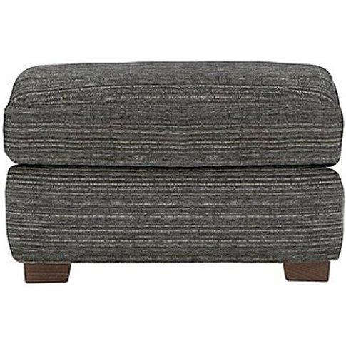 G Plan - Washington Fabric Footstool With Feet - Grey