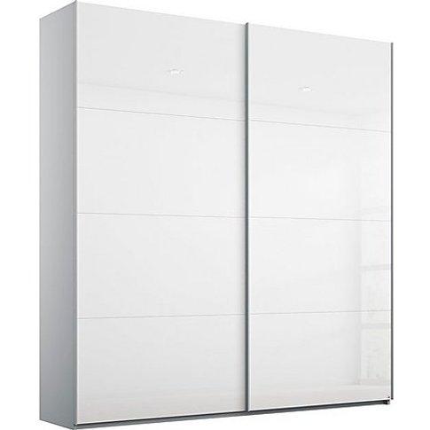 Rauch - Formes Glass 2 Door Slider Wardrobe - White