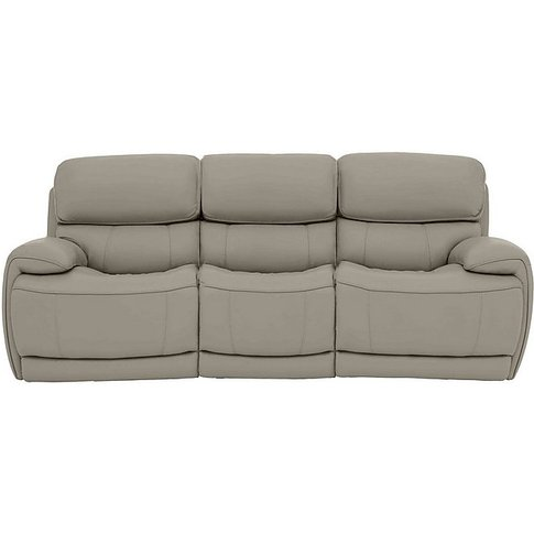 World Of Leather - Rocco 3 Seater Leather Power Rock...