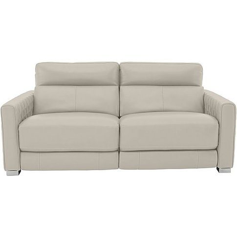 Vesper 3 Seater Leather Power Sofa With Power Headre...