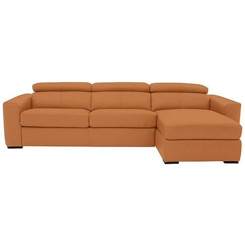 Infinity Leather Corner Chaise Sofabed With Storage ...