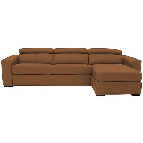 Infinity Leather Corner Chaise Sofa With Storage