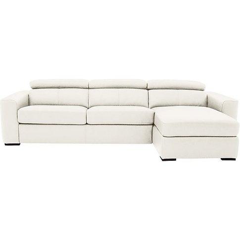 Infinity Leather Corner Chaise Sofa With Storage - W...
