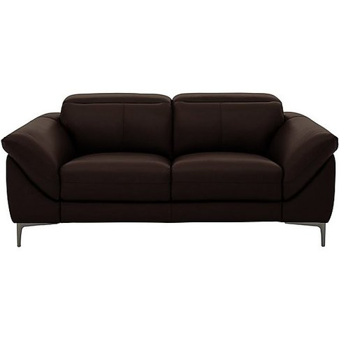 Galaxy 2 Seater Power Sofa With Power Headrests - Br...