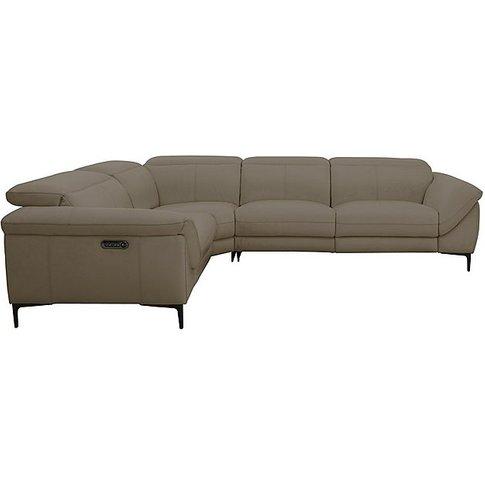 Galaxy Power Corner Sofa With Power Headrests - Grey...