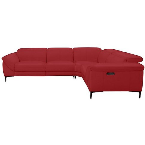 Galaxy Power Corner Sofa With Power Headrests- World Of Leather