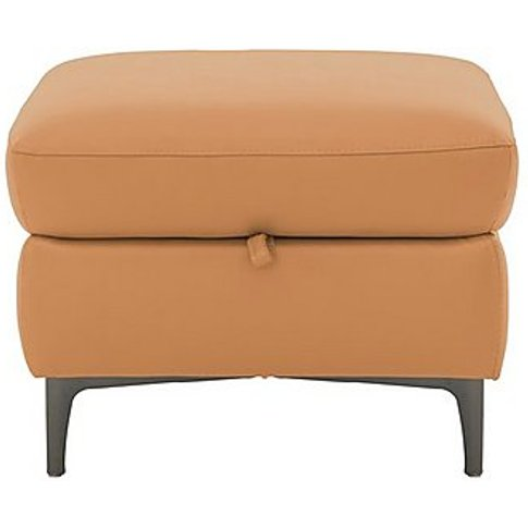 Galaxy Storage Footstool - Yellow- World Of Leather
