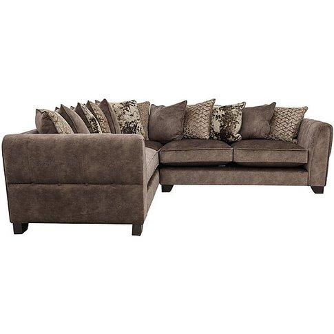 Ariana Small Fabric Pillow Back Corner Sofa